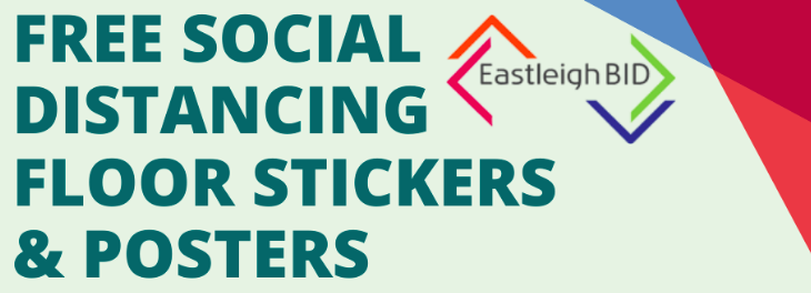 Free social distancing stickers